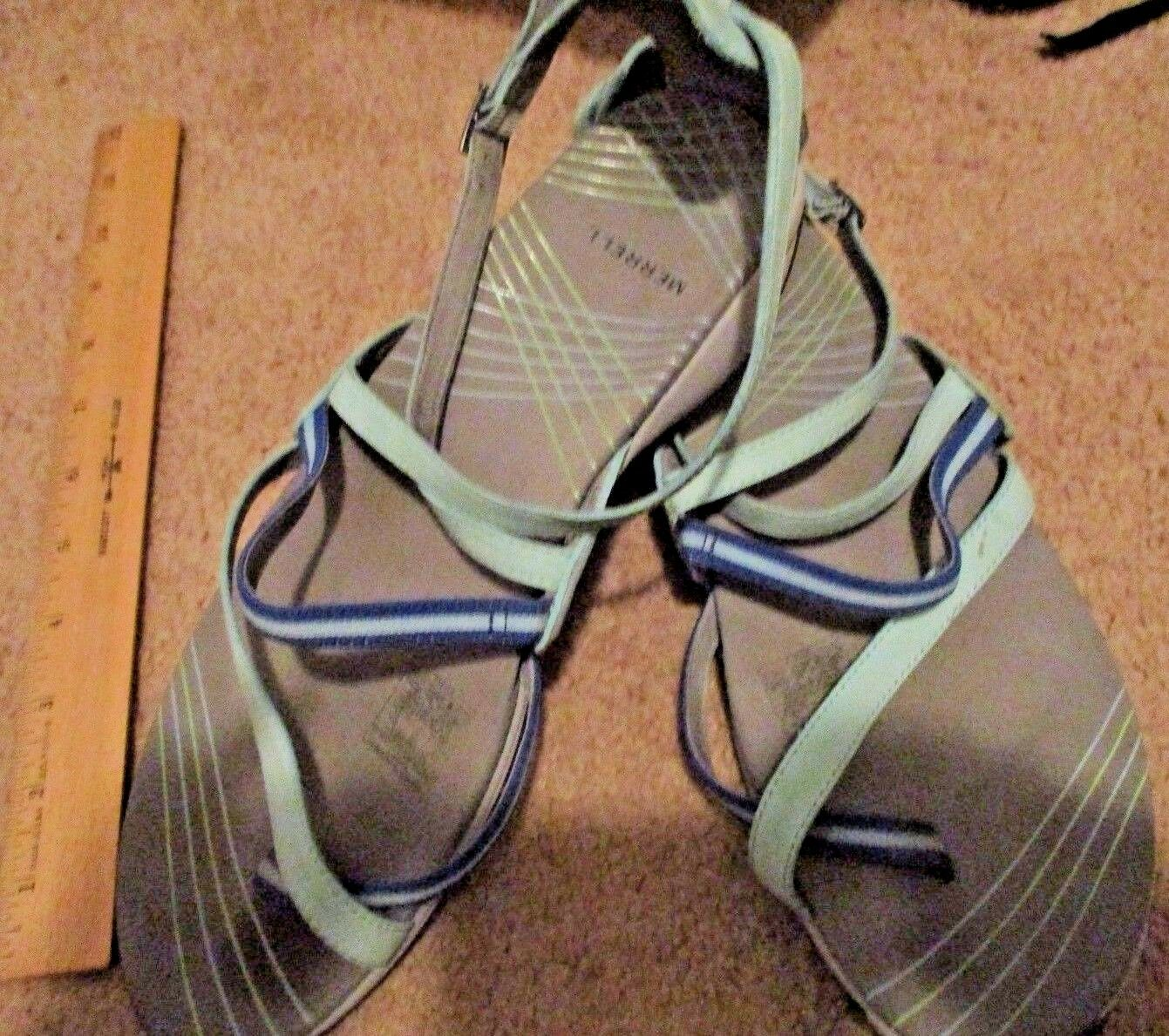MERRELL Lilium Flax Grey Strappy Sandals 11 M Grey Flax Seafoam Leather bcbe70