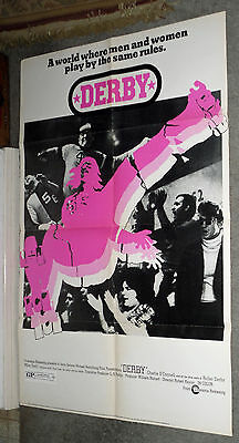 Posters Roller Derby Original 1971 One Sheet Movie Poster Charlie O'connell/ann Calvello Diversified In Packaging Inline & Roller Skating