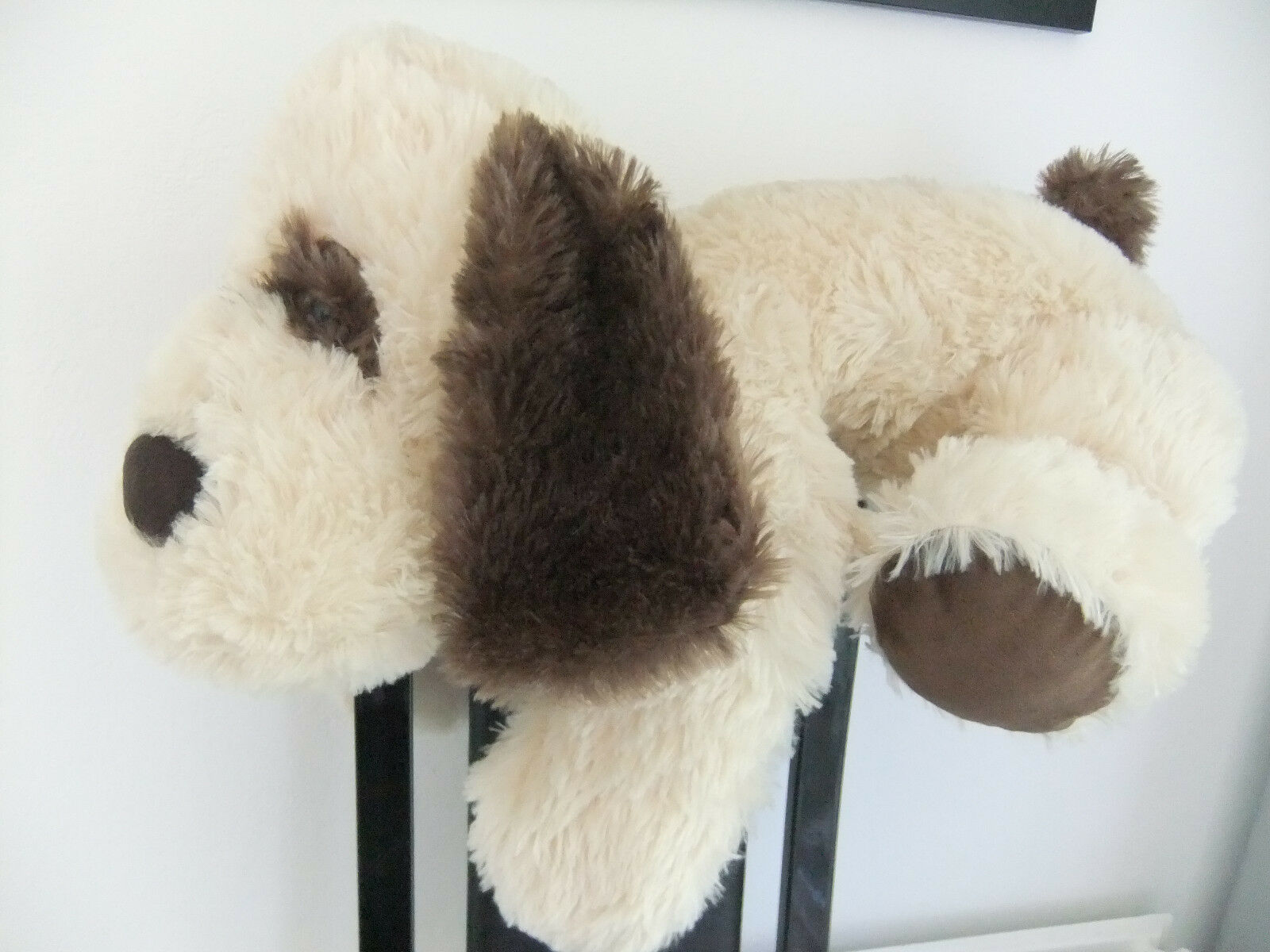 19  LARGE TESCO CUDDLE ME PUPPY DOG BROWN TEDDY BEAR SOFT CUDDLY TOY NEXT EASTER