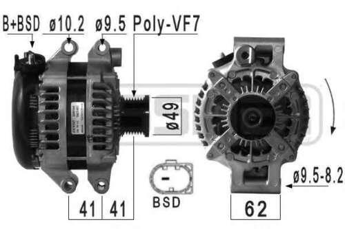 BMW 316i//318i 320i 1.6//2.0 PETROL E90//E91//E92//E93 DENSO ALTERNATOR