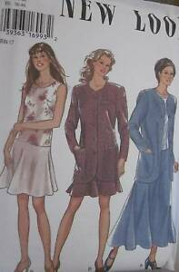 6415-Vintage-NEW-LOOK-SEWING-Pattern-Misses-Dress-Jacket-8-18-UNCUT-OOP-SEW-FF