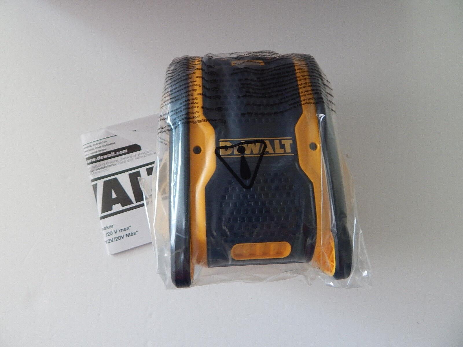 Dewalt DCR006 20-Volt 12 Volt Max Blautooth Speaker New