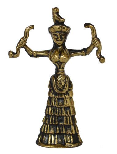 Minoan Bull Minoan Prince Snake Goddess Set of 4 Bronze Figurines Minotaur