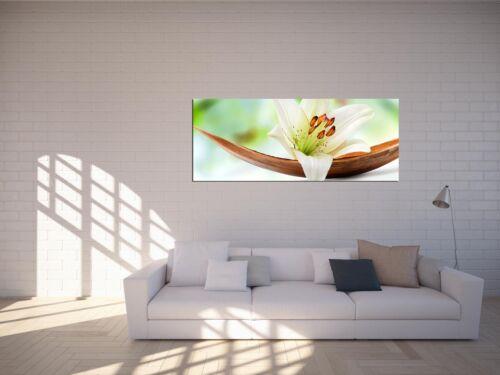 Glasbilder Echtglas Wandbilder Foto auf Glas Lilie 125 x 50cm AG-02152