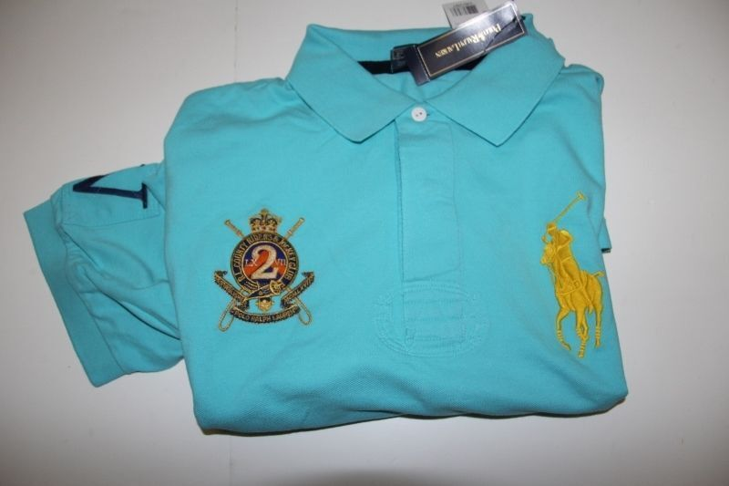 New Polo Ralph Lauren Big Pony bluee  Shirt LT TALL