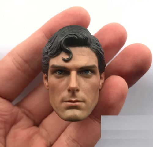 """1//6 Superman Christopher Reeve Head Sculpt For 12/"""" Hot Toys PHICEN TBL Figure"""