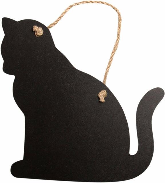 Chalk Blackboard Cat Standing Shape for Memos Notes /& Home Decor Pet Animal