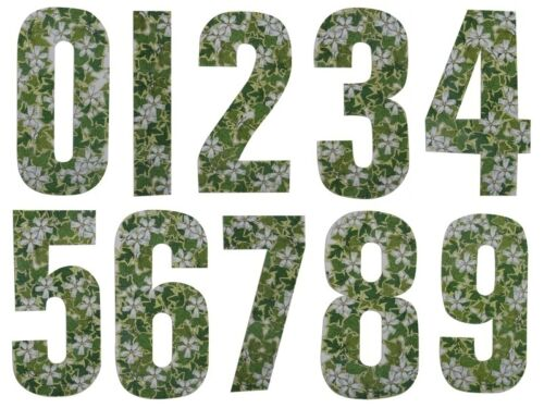 """7/"""" WHEELIE BIN HOUSE NUMBERS ADHESIVE WHEELY STICKERS STICKER NUMBER STICKY GATE"""