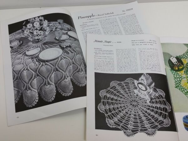 Vintage Crochet Pattern Book Lot Of 3 Books Doilies Edgings