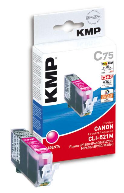 KMP Patrone C75 für Canon CLI-521M Pixma iP3600 4600 4700 MP550 560 etc. magenta