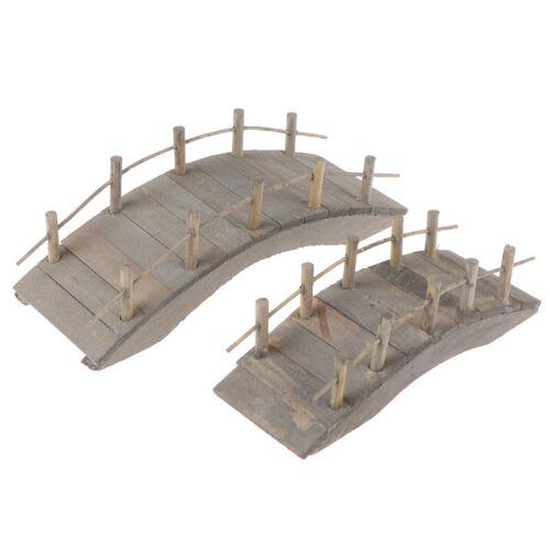 1:12 Dollhouse Miniatures Mini Wooden Arch Bridge Garden Ornament Accessorie`