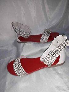 35 Bianchi Brillanti Schuhe Ita Woman Twin Strass Donna Shoes Set Sandali Scarpe FxnCUwtqHn