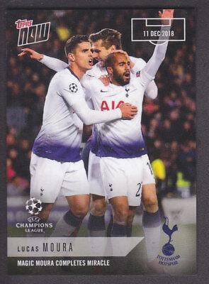 Topps Now Champions League 2018//19-21 Lucas Moura Tottenham  //84