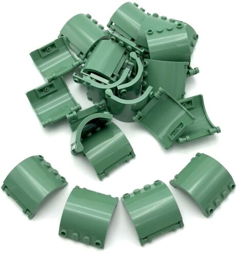 Lego 25 New Sand Green Hinge Panel 3 x 4 x 3 Curved Pieces