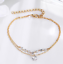 New-Fashion-2-Layer-Love-Heart-Crystal-Gold-Silver-Women-Gift-Jewelry-Bracelet thumbnail 2