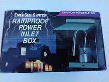 Generator Outdoor Power Inlet Box Raintight Emergen Switch Rt30 30a 125250v
