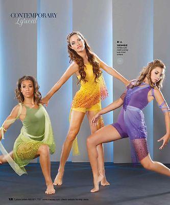 Marcea Purple Lyrical Contemporary Dance Jazz Costume Unitard 163492 Adult XS