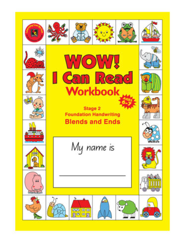 I Can Read Writing Workbook Stage 2 Ends /& Blends Foundation Handwriting Wow