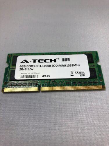 204-Pin SODIMM 1333-MHz 4GB DDR3 SDRAM PC3-10600 A-Tech Laptop Memory Module