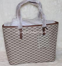 ad67e8b9982d MICHAEL KORS Emry Large Signature Logo Shoulder Tote Bag Purse Natural $328  -NWT! MICHAEL KORS Emry Large Signature Logo Shoulder Tote Bag Purse Natural  ...