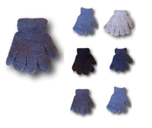 7-8 Years Boys Kids Children Winter Warm Fluffy Plain Gloves 5-6 Years