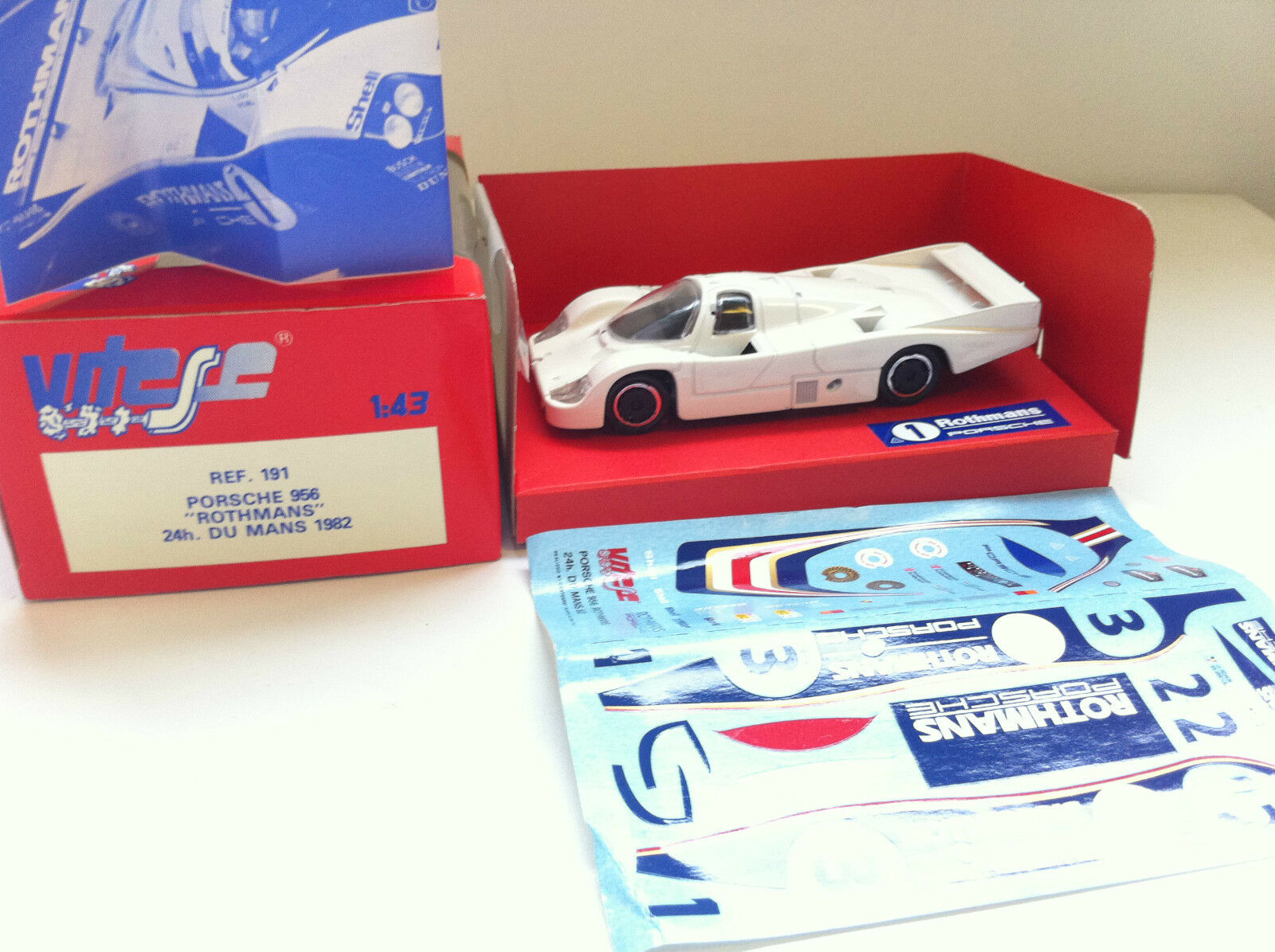 Vitesse - 191 - Porsche 956  rougehmans  24H du Mans 1982 (1 43)