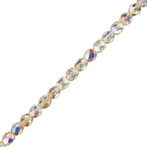 Czech-Fire-Polished-Beads-6mm-Crystal-Yellow-Rainbow-6-034-Strand-25-Piece-G106-2