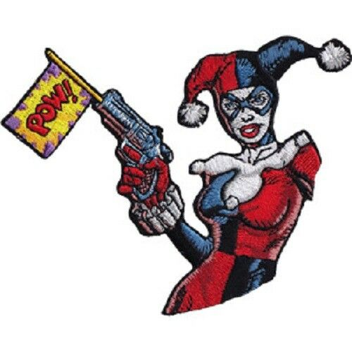 Patch DC Comics Harley Quinn Pow Iron On Licensed p-dc-0126