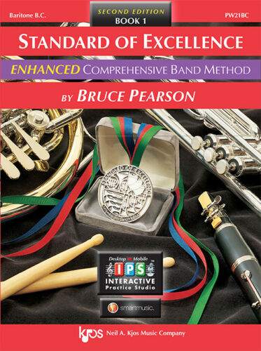 Baritone B.C Book 1 w// Online Media PW21BC Standard of Excellence ENHANCED