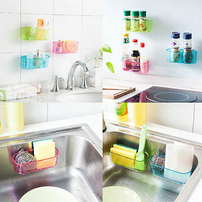 Suction Hanging Sink Sponge Brush Storage Organizer Cup Holder SS