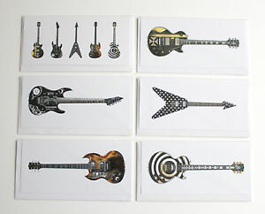 Famous metal guitars pack of 6 greeting cards dl size ebay image is loading famous metal guitars pack of 6 greeting cards m4hsunfo