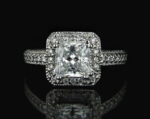 2ct-Princesa-Un-Diamante-VS2-H-Anillo-De-Compromiso-En-18ct-Oro-Blanco