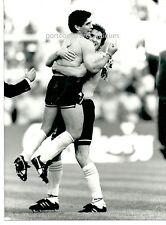 1990 MARADONA RUGGERI Foto orig gesto ombrello mondiali Argentina Jugoslavia 3-2