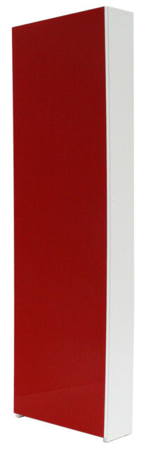 Scarpiera Porta scarpe slim anta unica in vetro: Cristal rosso Valdomo