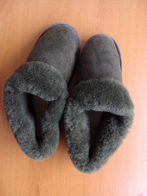 BRAND NEU SHEARLING LAMB SHEEPSKIN BON MOUTON FUR SLIPPERS Schuhe WOMEN