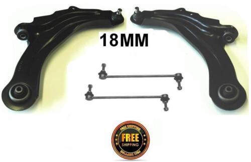 Megane MKII MK2 1.9TD FRONT LOWER WISHBONE CONTROL ARMS 18MM /& ANTI DROP LINKS