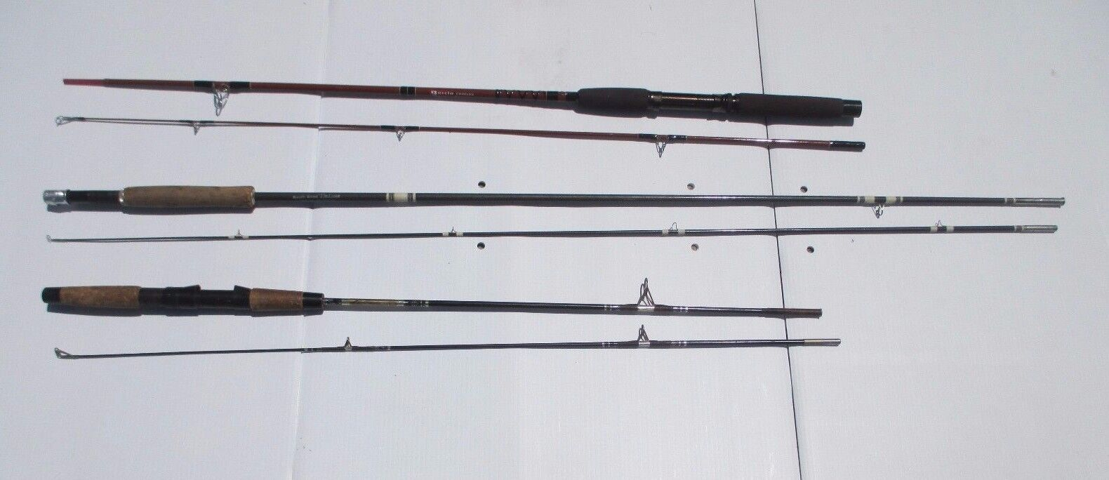 Lot of 3 Fishing Rods - Garcia Conolon, Garcia Kingfisher, & South Bend Deluxe