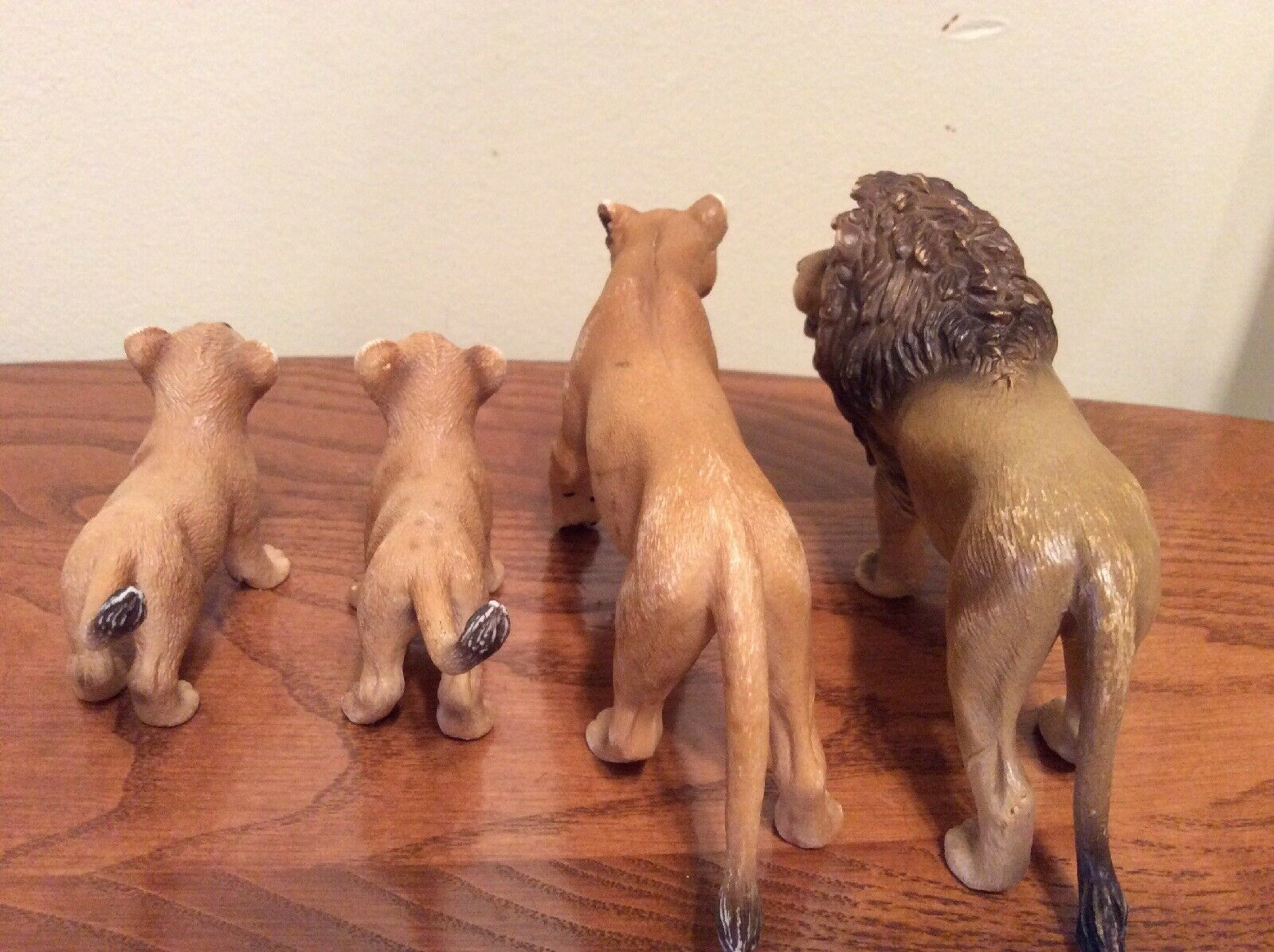 Set Of 4 Lion Family Schleich, Schleich, Schleich, Lioness, Male Lion And Two Cubs 2005 3d40ea