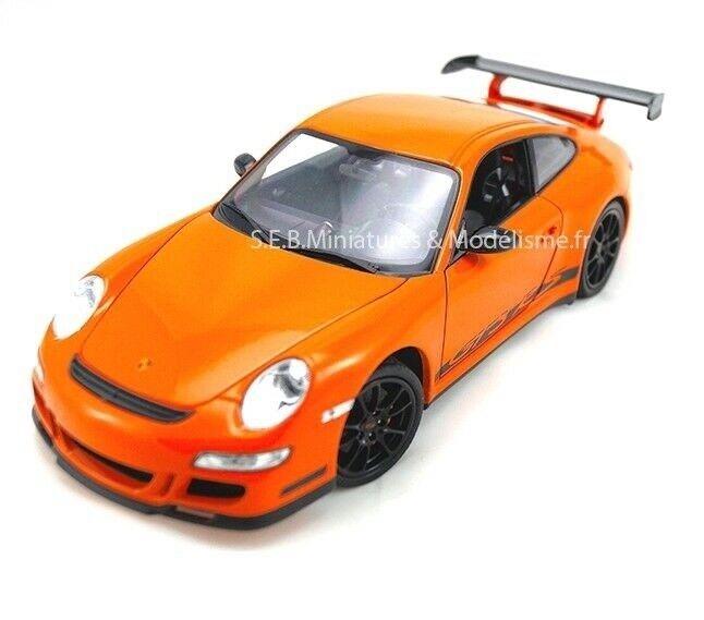promocionales de incentivo PORSCHE 911 GT3 RS 997 naranja naranja naranja 2007 WELLY 1 18  envío gratuito a nivel mundial