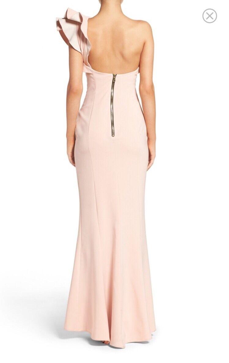 Maria white white white black One Shoulder Gown, Size 2 26bb08