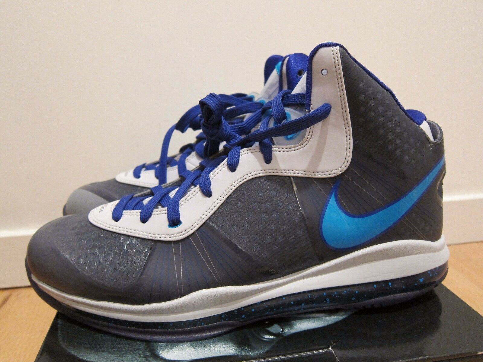 official photos 6f560 ee1f8 2010 Nike Air Lebron 8 V V V 2 VIII Summit Lake Hornets bluee Grey size 13  c7bca0