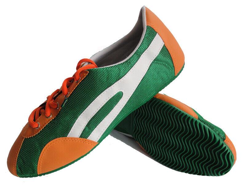 Taygra Brasilien Orange Weiß & Grün Slim Turnschuhe Flexibel & Licht Schuhe Größe