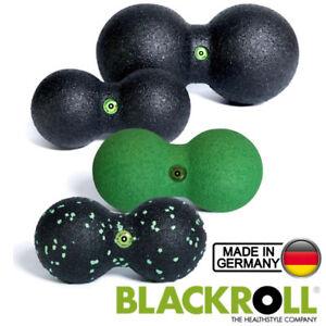 BLACKROLL-DuoBall-Schwarz-Gruen-8-cm-12-cm-Doppelball-Duo-Ball-Faszien-Massage