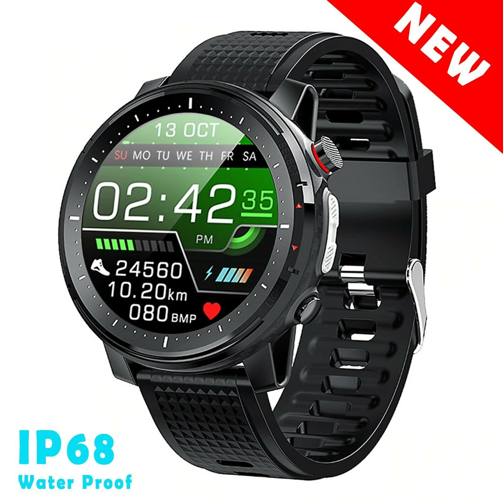 Smart Watch Men Sports Heart Rate Fitness Monitor Waterproof For IOS Android New