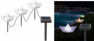 3er-LED-Set-Solar-Garden-Plug-034-Papierboot-034-Ground-Light-Garden-Light