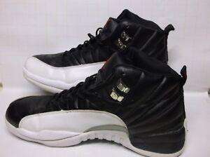 Image Is Loading Air Jordan Retro XII 12 White Black NBA