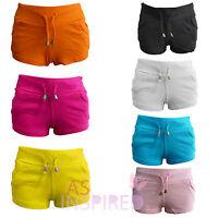 New Ladies Womens Sexy Shorts Hot Pants Casual Summer Holiday Shorts UK 6-14