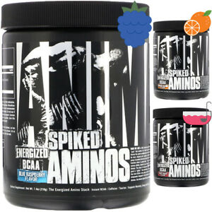 Universal Nutrition Animal Spiked Aminos (BCAA + EAA) 30 Servings, Immune Health