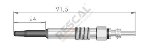 4X RENAULT GRAND SCENIC II 1.9 F9Q G804 DIESEL GLOW PLUGS