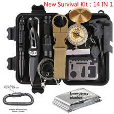 14 in 1 Outdoor Camping Survival Gear Kits SOS EDC Self Defense Emergency Kit
